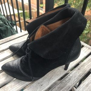 Zara all leather booties